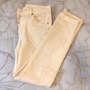Yellow Levi's jeans